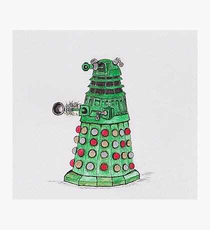 Christmas Dalek Photographic Print