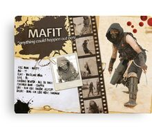 Mafit's Character Sheet (Scavengers Webseries) Canvas Print