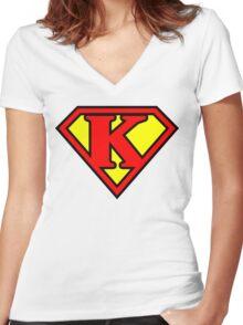 Super K Women's Fitted V-Neck T-Shirt