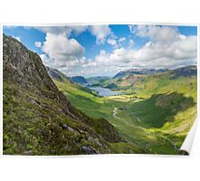 Buttermere and Warnscale Bottom from Green crag, The Lake District, England Poster