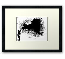 New York Tagger  Framed Print