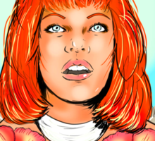 St. Leeloo of the Big Bada Boom Sticker