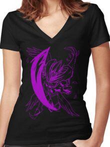 Wild MagnaAngemon - Color Ink Women's Fitted V-Neck T-Shirt