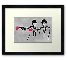 Laurel & Hardy Mashup Framed Print