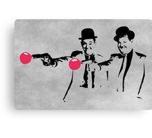 Laurel & Hardy Mashup Canvas Print