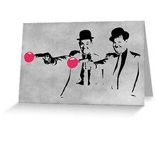 Laurel & Hardy Mashup Greeting Card