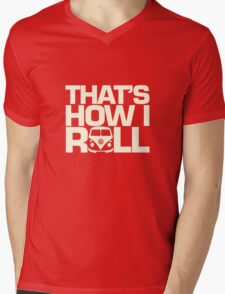 How I Roll Cream Mens V-Neck T-Shirt