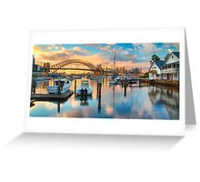 Sunrise over Lavender Bay HDR 1 Greeting Card