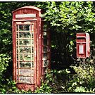 Old Red Telephone Box Old Red Letter Box by Natalie Kinnear