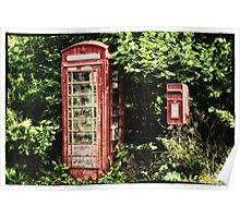Old Red Telephone Box Old Red Letter Box Poster