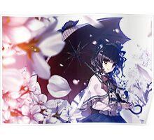 Anime Cat Girl Parasol Poster Poster