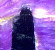 The Dark Tower (Charoite) by Stephanie Bateman-Graham