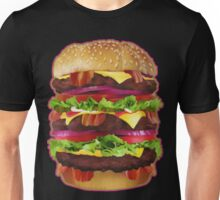 Triple Bacon Cheeseburger Unisex T-Shirt