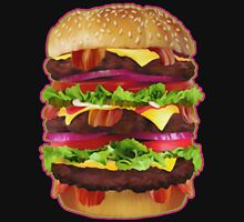 Triple Bacon Cheeseburger Unisex T-Shirt