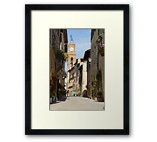 Pienza before the tourist buses Framed Print