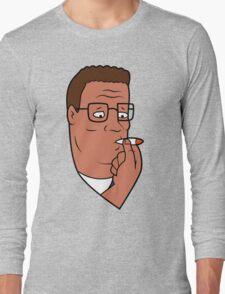 Hank Hill Smoking Weed Long Sleeve T-Shirt