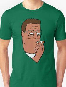 Hank Hill Smoking Weed Unisex T-Shirt