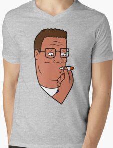 Hank Hill Smoking Weed Mens V-Neck T-Shirt