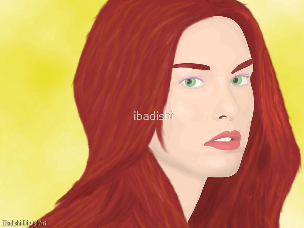 Ice Princess - Red Hot Hair and Cold Green Eyes by ibadishi