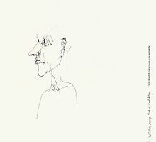 (Night) & Nap Drawings 128 - 19th August - made eyes closed by Pascale Baud
