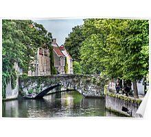 Meestraat Bridge in Bruges Poster