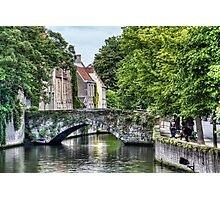Meestraat Bridge in Bruges Photographic Print