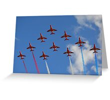 The Red Arrows 1/3 Greeting Card