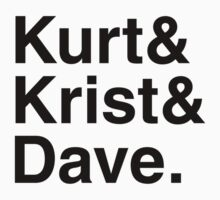 Kurt&Krist&Dave. (black) by EleYeah