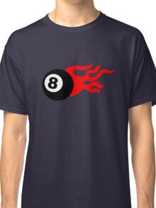 Eight Ball and Flames Classic T-Shirt