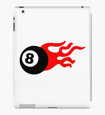 Eight Ball and Flames iPad Case/Skin