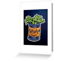 Spinach superfood!! Greeting Card