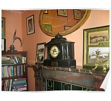 Carriage Clock On Mantlepiece Poster