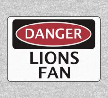 DANGER MILLWALL, ASTON VILLA, LIONS FAN, FOOTBALL FUNNY FAKE SAFETY SIGN One Piece - Long Sleeve