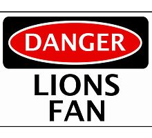 DANGER MILLWALL, ASTON VILLA, LIONS FAN, FOOTBALL FUNNY FAKE SAFETY SIGN by DangerSigns