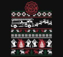 Christmas Firefighter Fireman Ugly Sweater Xmas Sweatshirt by beautytees