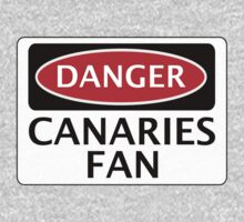 DANGER NORWICH CITY, CANARIES FAN, FOOTBALL FUNNY FAKE SAFETY SIGN One Piece - Long Sleeve