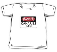 DANGER NORWICH CITY, CANARIES FAN, FOOTBALL FUNNY FAKE SAFETY SIGN Kids Tee
