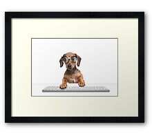 Keyboard Wizard Framed Print