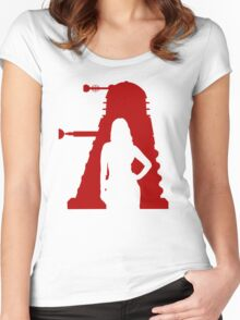 Asylum of the Dalek's T-shirt Women's Fitted Scoop T-Shirt