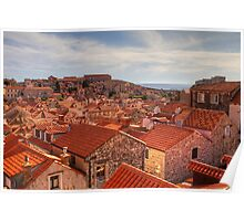 The Rooftops of Dubrovnik Poster
