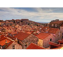 The Rooftops of Dubrovnik Photographic Print