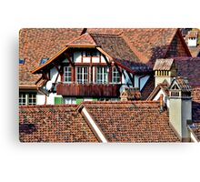 Living In The Swiss Capital Canvas Print