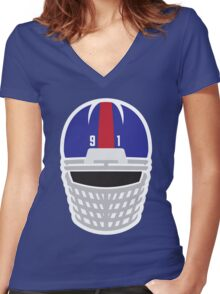 Fear The Mask Women's Fitted V-Neck T-Shirt