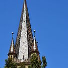 Evangelical Cathedral Bell Tower from Sibiu, Transylvania by ivDAnu