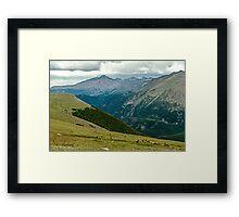 Longs Peak Elk Herd Framed Print