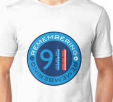 Remember 911 - World trade centre with American Flag Unisex T-Shirt