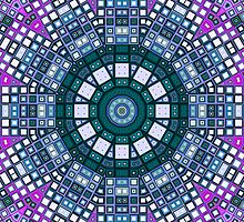 Mosaic Kaleidoscope 5 by MSRowe Art and Design