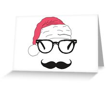 father christmas with sunglasses and moustache Greeting Card