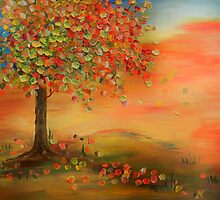 Autumn Tree by ArtByRuta