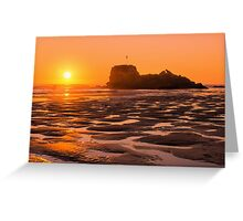 Perranporth Sunset Greeting Card